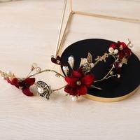 Vintage Gold Farbe Stirnband Schmetterling Blume Hairband Ornamente Braut Hochzeit Kopfschmuck Haarschmuck Frauen Party Kopfschmuck Geschenk