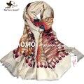 Мода женщин длинные хлопка шарф негабаритных пера павлина белый шарфы дамы осень зима шею шарфы открытый свободного покроя платки