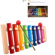 Best seller Children Baby Musical Toys Xylophone Wisdom Development Wooden Instrument improve Kid sensitive to colors sounds zt