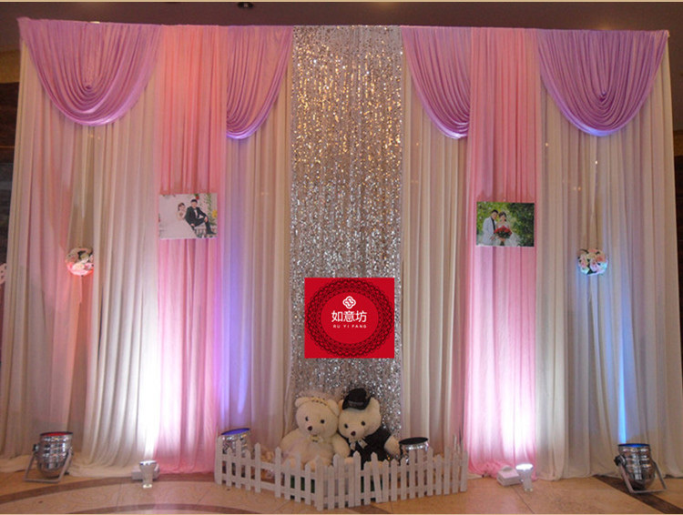 Wedding 3mx6m Backdrop Wedding Stage Curtain Background