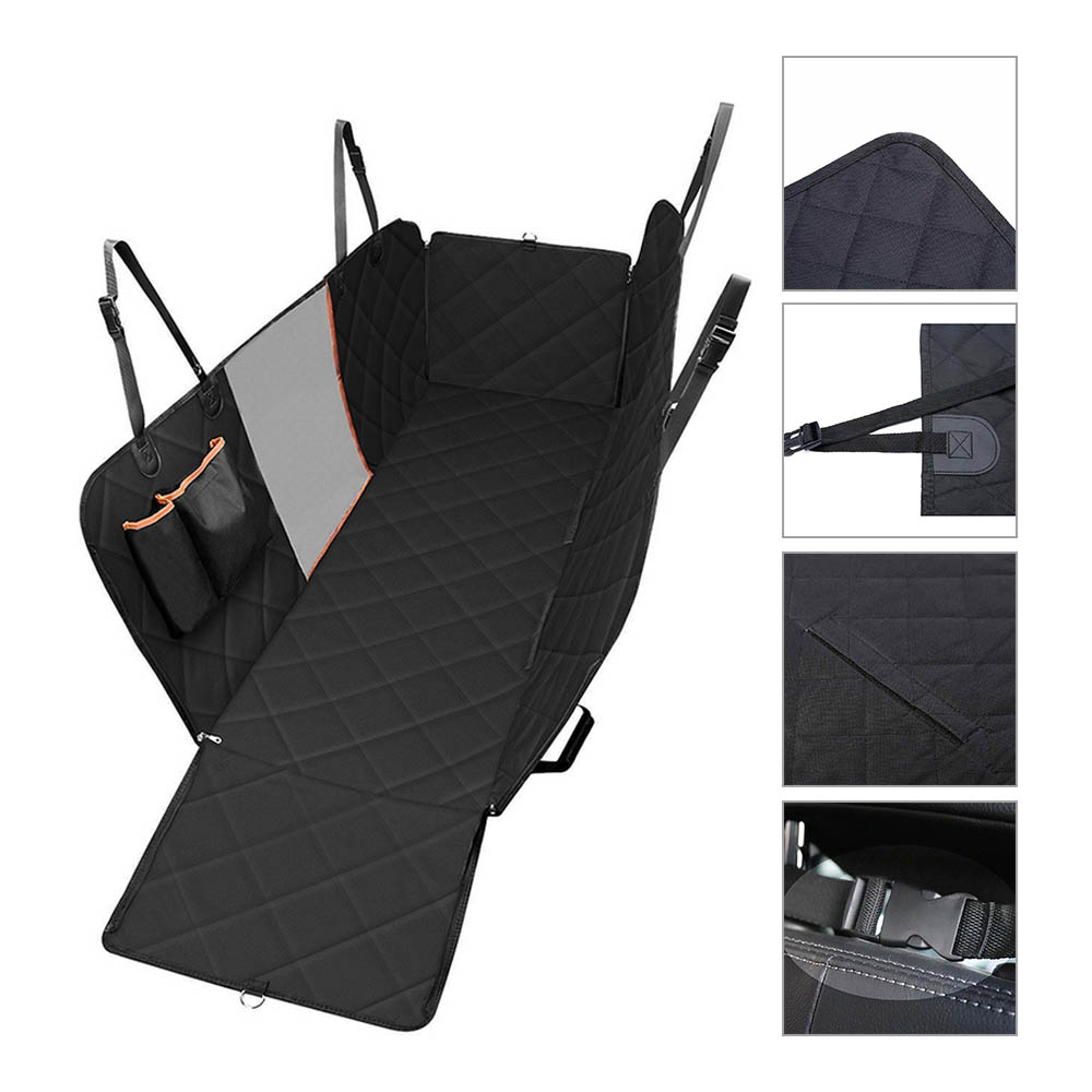 Home Waterproof Quilted Non-slip Pet Dog Car Seat Cover Hammock Pet Accessories Mat Blanket Back Seat Protector Mesh Viewing Window