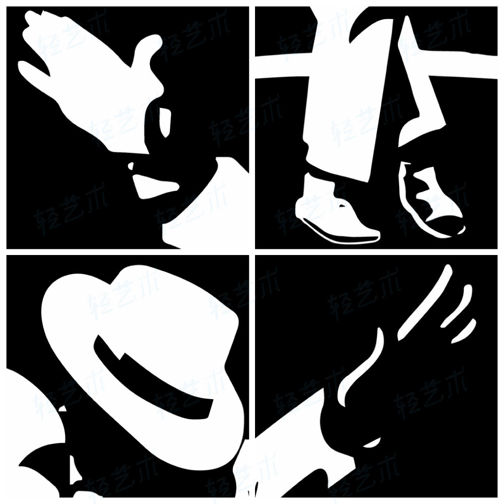 AliexpresscomBuy Machael Jackson Modern Abstract Black White