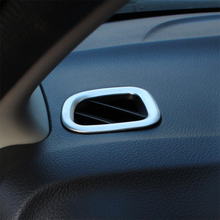 For Suzuki Vitara 2016 to 2018 ABS Plastic Chrome front Air conditioning Outlet Vent styling garnish cover frame lamp trim 2pcs недорого
