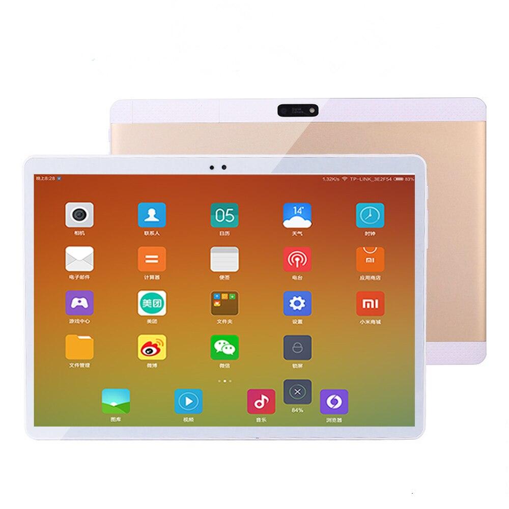 4G LET 10 Core Android 7.0 OS 10.1 pouces tablette PC 4G LTE Octa Core 4 GB RAM 64 GB ROM 1920*1200 IPS enfants cadeau GPS tablettes 10 10.1