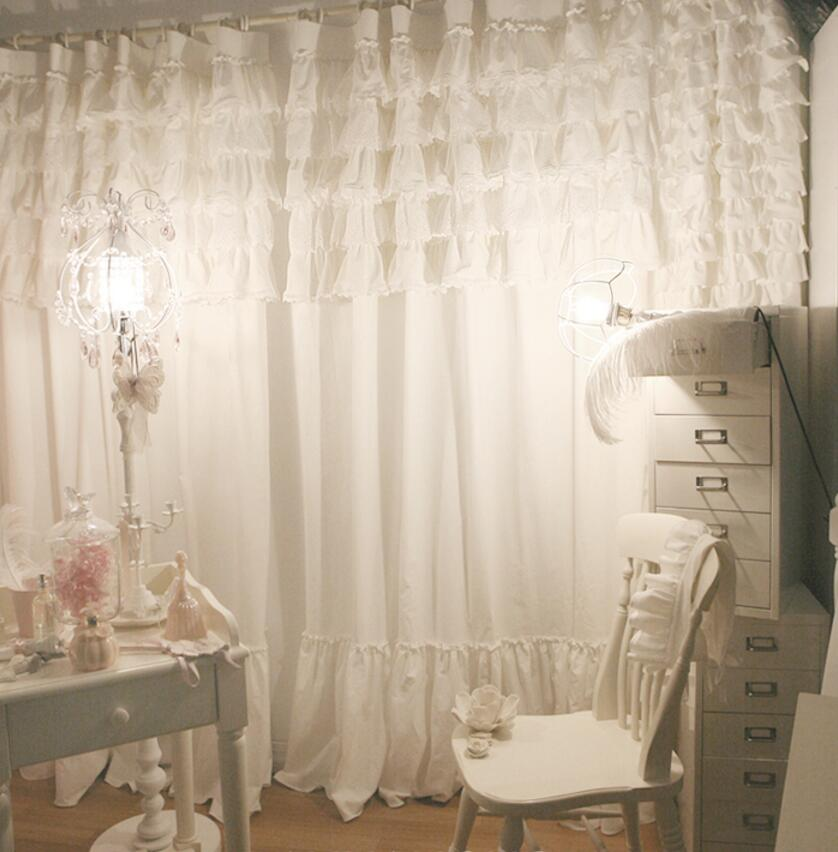 Custom Made Lace Curtain for Girls Bedroom Princess Style
