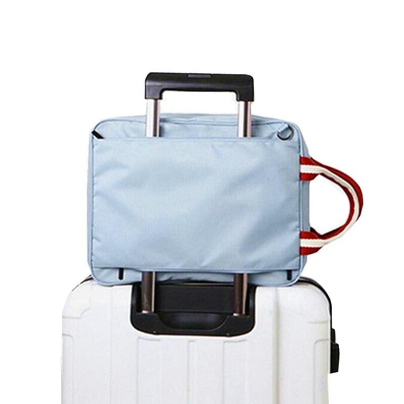 все цены на Suitcase Trolley Luggage Travel Bags Foldable Shoulder Bag Weekend Bag Women Clothes Storage Toiletry Organizer Handbag Supplies онлайн