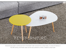 Modern Design Solid Wooden base With MDF Top Coffee Table End Table Different height size combine fashion Tea Side Table