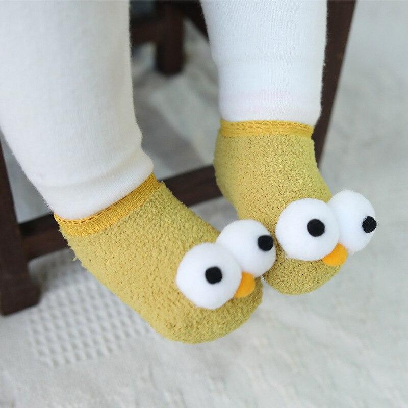 Cute New Eyes Baby Year Girls Boys Anti-Slip Socks Slipper Boot Newborn Soft Rabbit Sock