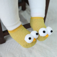 Cute New Eyes Baby New Year Baby Girls Boys Anti-Slip Socks Slipper Boot Baby Girls Socks Newborn Soft Cute Rabbit Baby Sock candy color soft new born baby floor sock short anti slip ankle solid socks for infant boys girls