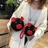 Korean Fashion Suede Women Bag Pig Small Round Bag Chain Female Shoulder Messenger Bag Wrist Bag Party Clutch Coin Purse 2019 1