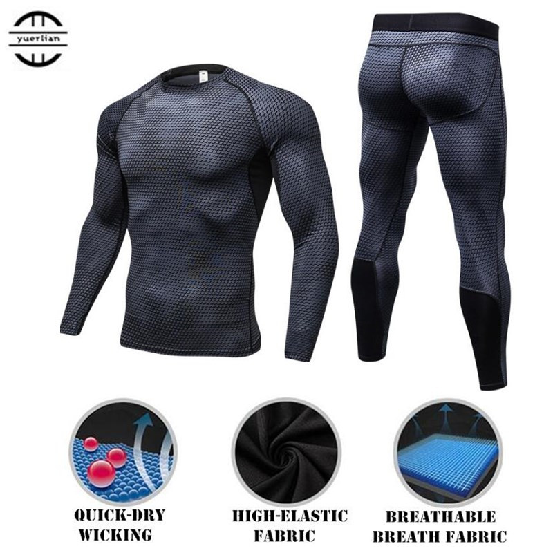 100 Set Männer Shapers Übung 3d Engen Fitness Lange Unterhosen Langarm Shirts Quick-dry Wicking Hohe Elastische Kompression Hosen & Tops