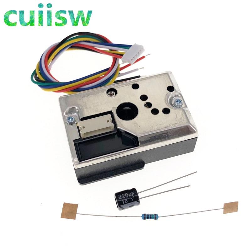 10PC GP2Y1014AU0F Compact Optical Dust Sensor Compatible GP2Y1010AU0F GP2Y1010AUOF Smoke Particle Sensor With Cable