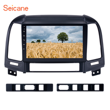 Seicane Android 6.0 2Din 9 inch GPS Navigation Car Radio Tochscreen Multimedia Player For 2005-2012 HYUNDAI SANTA FE with WIFI