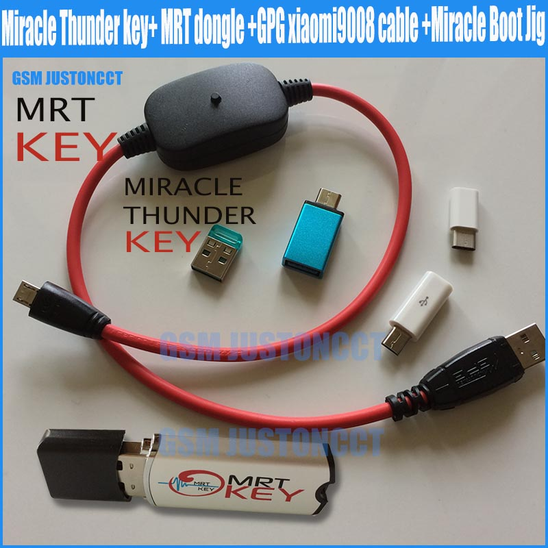 2018 New Original Miracle Thunder key+ MRT dongle +GPG xiaomi9008 cable +Miracle Boot Jig Free Shipping2018 New Original Miracle Thunder key+ MRT dongle +GPG xiaomi9008 cable +Miracle Boot Jig Free Shipping