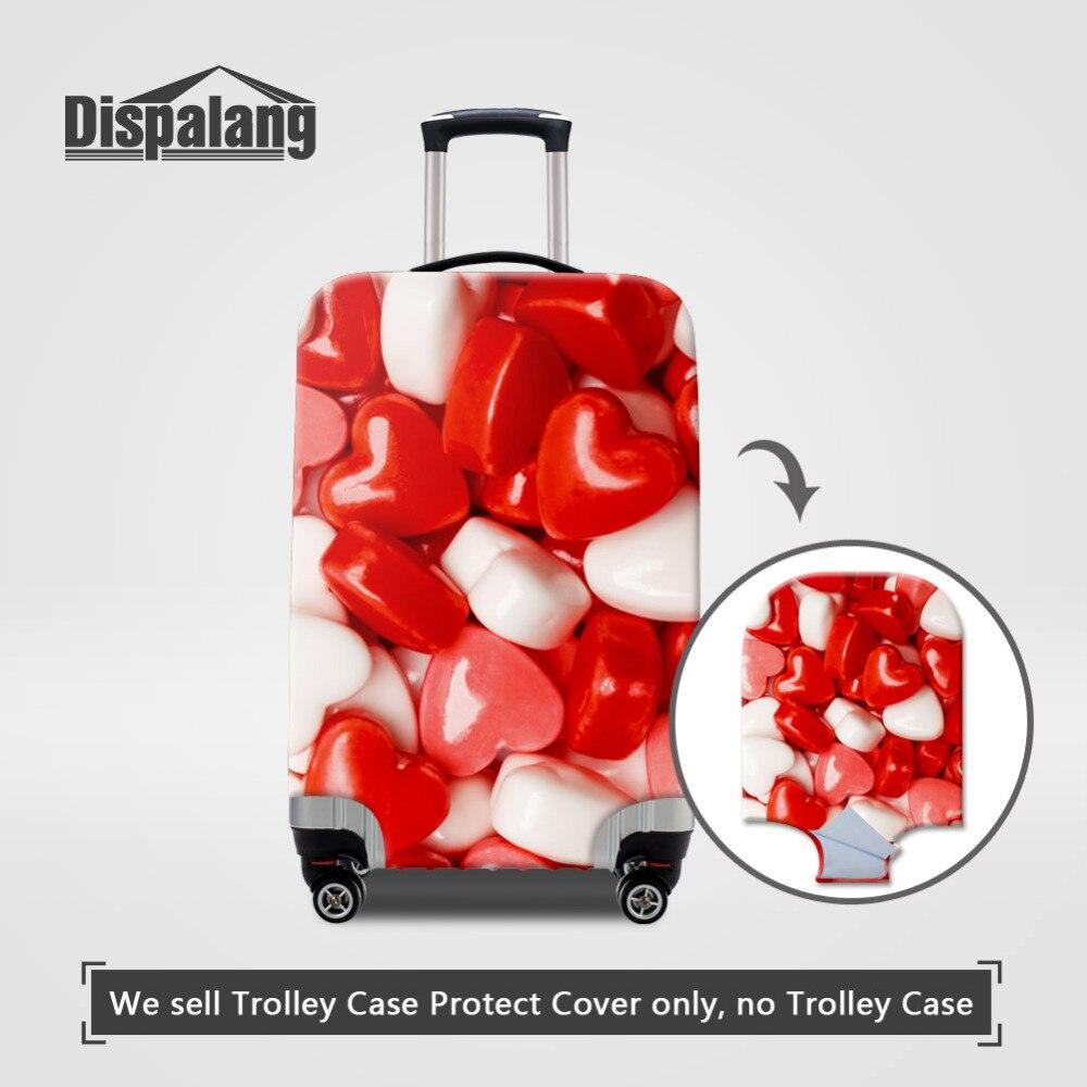Dispalang сладкие конфеты принт Чемодан женщин эластичный чехол пыли чемодан Крышка для 18-30 дюймов случае Обувь для девочек туристические товар...