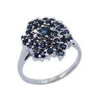 2017 г. anillos Кольца QI xuan_dark синий каменный цветок Ring_S925 чистого серебра синий ring_manufacturer непосредственно продаж