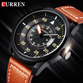 Curren watch men Luxury brand business Analog date display leather mens quartz Sports watch wristwatches Relogio Masculino Clock