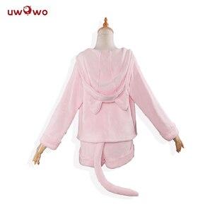 Image 3 - UWOWO Lại: cuộc sống trong một thế giới khác từ không Cosplay Rem RAM Gợi Cảm Tai Nghe Tai Mèo Ver Trang Phục Nữ Anime Lại bằng không Cosplay bộ đồ ngủ