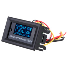 OLED Multi-functional Wattmeter 7-in-1 Electrical power meter Parameter Meter Voltage Current Time Capacity Temperature Tester