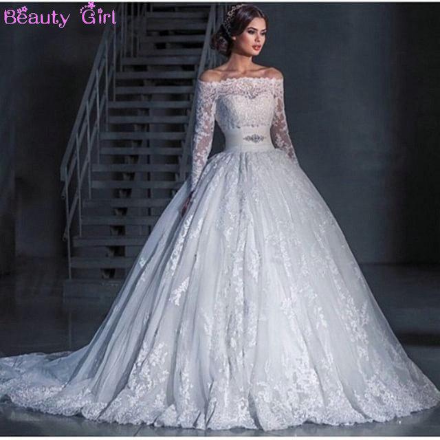 Silk Long Sleeves Wedding Dresses