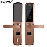 Цифровой умный замок отпечатков пальцев электронный дверной замок для домашней безопасности Противоугонный интеллектуальный замок комби