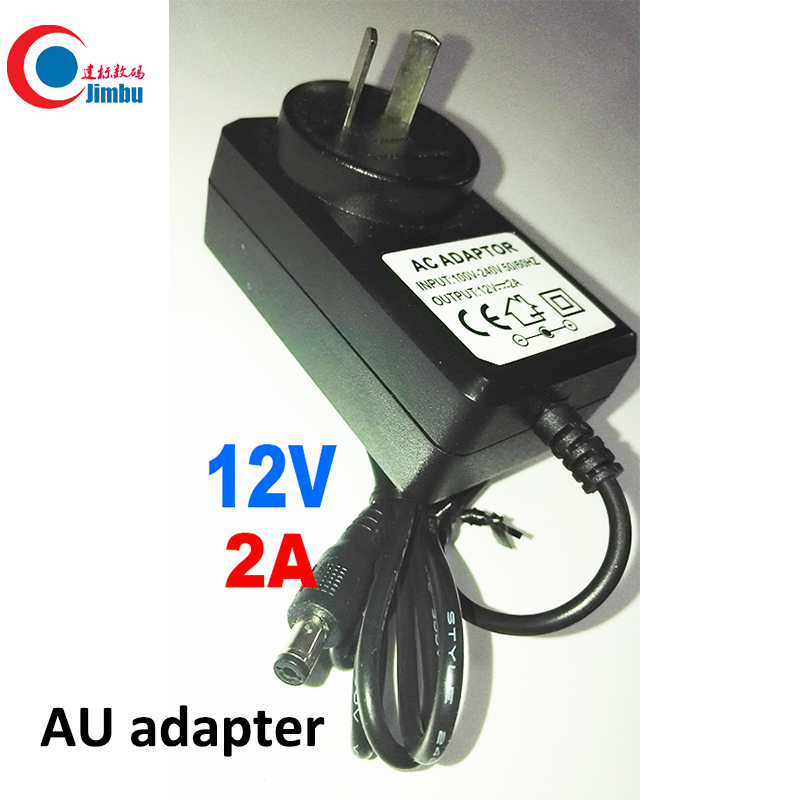 CCTV Security Camera AU Type Adapter DC 12V 2A  Power Supply AU Plug Power Adapter 2pcs 12v 1a dc switch power supply adapter us plug 1000ma 12v 1a for cctv camera