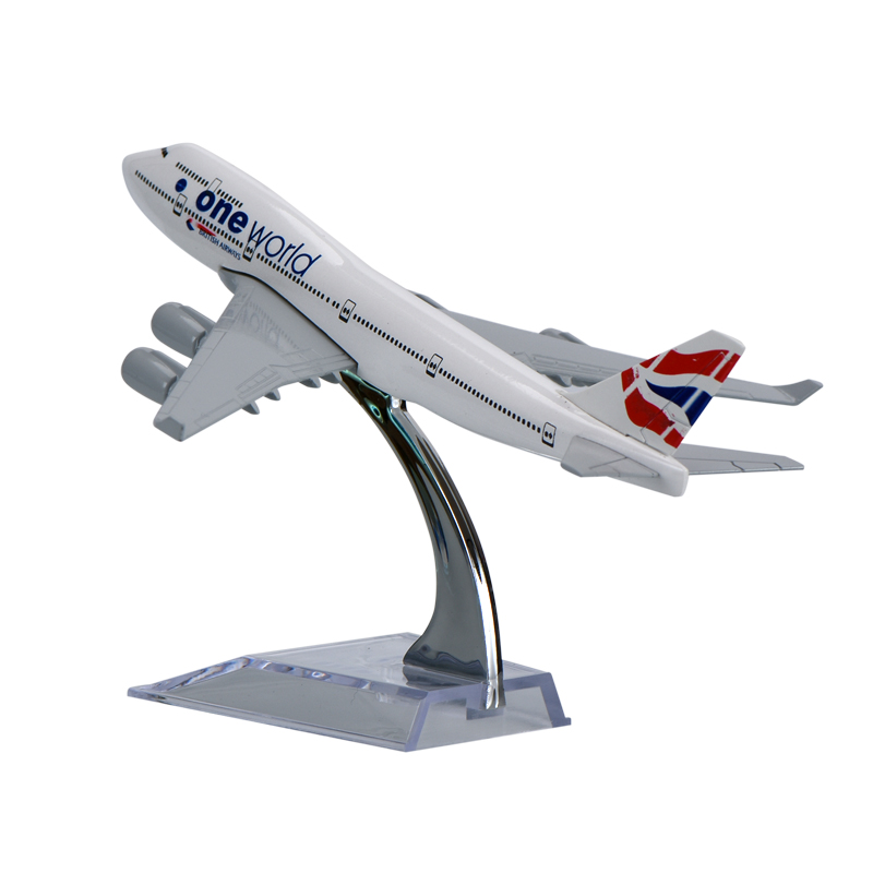 WR British Airways Airplane Models Birthday Gifts Zinc Alloy Model Planes Gifts for Birthday Desktop Model Aircraft