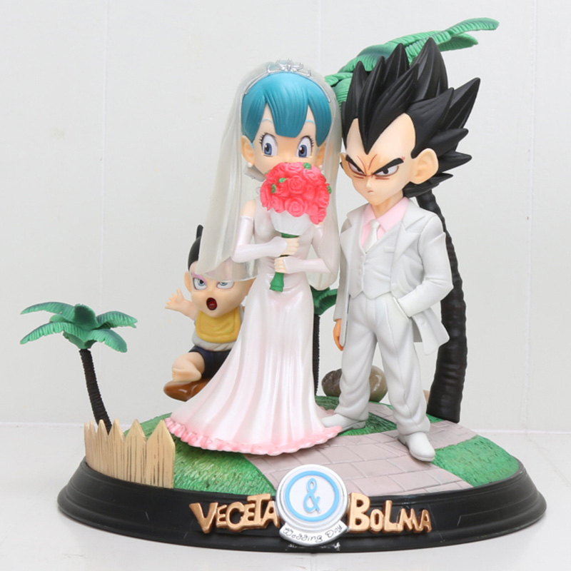 Nouveauté 20 cm Dragon Ball Z végéta et Bulma Bolma jour de mariage PVC figurine Action jouet modèle poupée