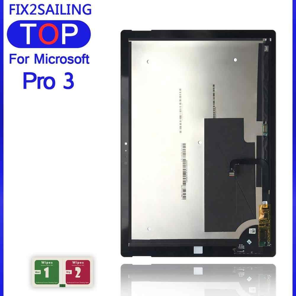 شاشة عرض LCD كاملة لـ Microsoft Surface Pro 3 (1631) TOM12H20 V1.1 LTL120QL01 003 شاشة عرض LCD جديدة 100% لوحة محول رقمي