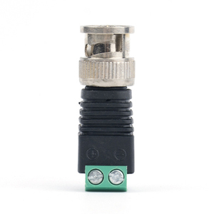 Image 4 - 10pcs 보안 액세서리 스트레이트 시스템 용접 없음 아연 합금 어댑터 비디오 커넥터 플러그 카메라 감시 Q9 BNC 남성
