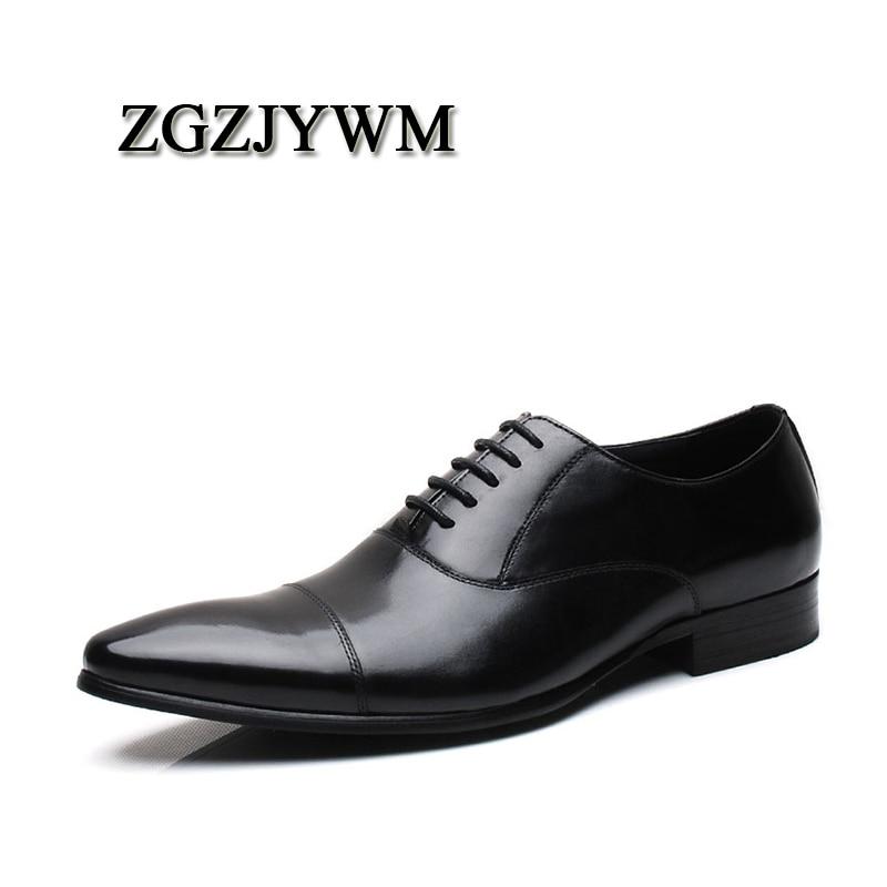 Negócios Escritório Zgzjywm Dos Apontado Dedo red Casamento Lace Novo Vestido Sapatos Respirável up Preto vermelho Black Genuíno Formal Oxfords De Homens Couro XUUpr4qw