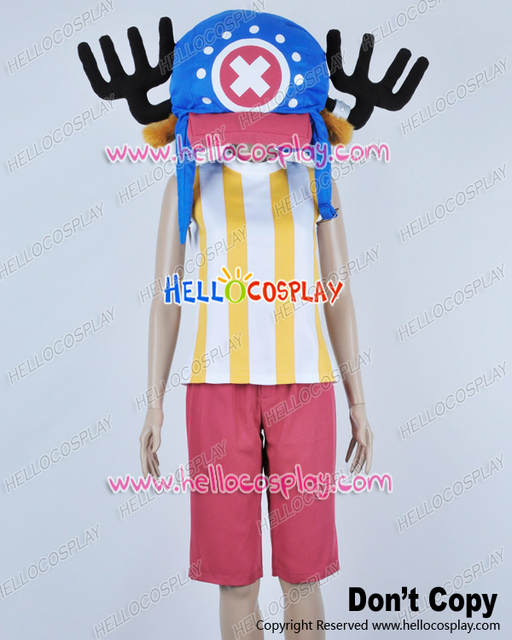 Japanese Anime Outfit One Piece Cosplay Tony Tony Chopper Yellow Stripes  Vest Costume (NO HAT
