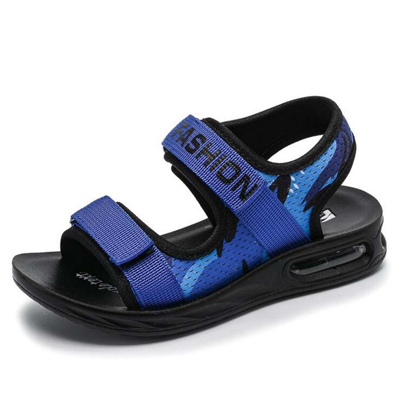 size 26-39 Casual air cushion beach shoes shock resist boys sandals children summer sandals big kids hollow out sandals 2-16Year