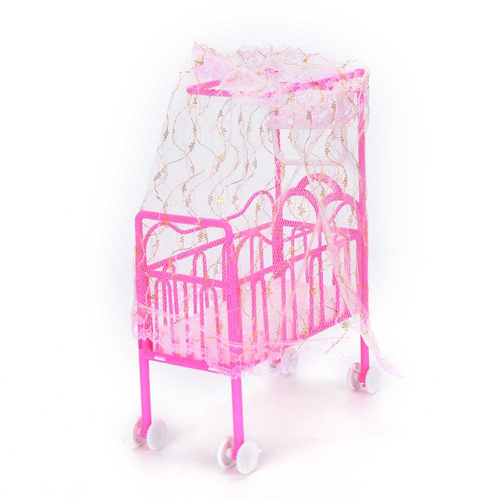 Rosa Gelb Oder Lila Mädchen Geburtstag Geschenk Kunststoff Doppel Bett Mode Kunststoff Bett Schlafzimmer Möbel Für Mädchen Puppen Puppenhaus