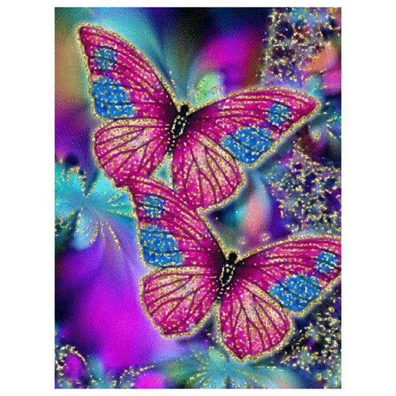 Dual Butterfly DIY 5D Diamond Embroidery Painting Cross Stitch Home Office Decor