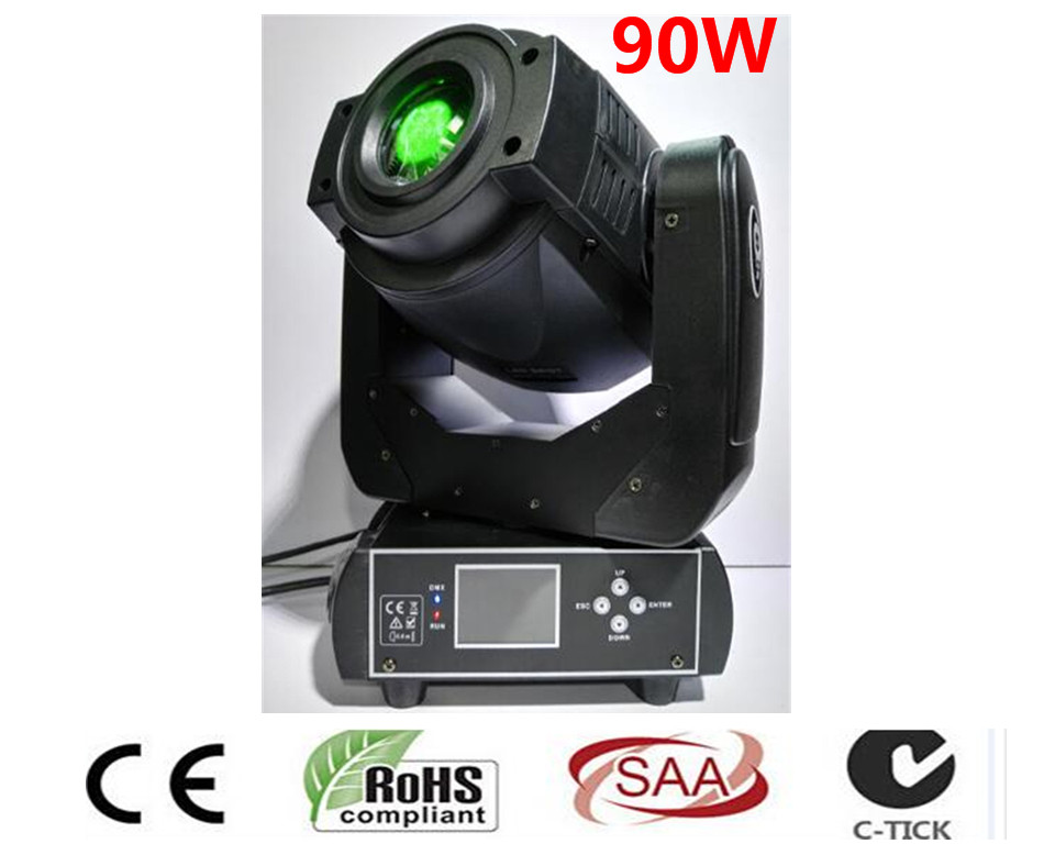 Trasporto Libero New Hot-vendita 90 w LED Spot Moving Head Light/USA Luminums 90 w LED DJ luce del punto