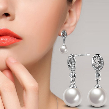 Trending Now 4 Color Romantic Geometric Statement Earrings for Women Pearl Beads Brand Jewelry ED1 1