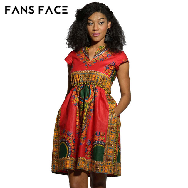 9f99c7b7797a FANS VISO 2017 Nuovo Disegno di Modo Tradizionale Abbigliamento Africano  Stampa Dashiki Nizza Collo Ricamato Africano