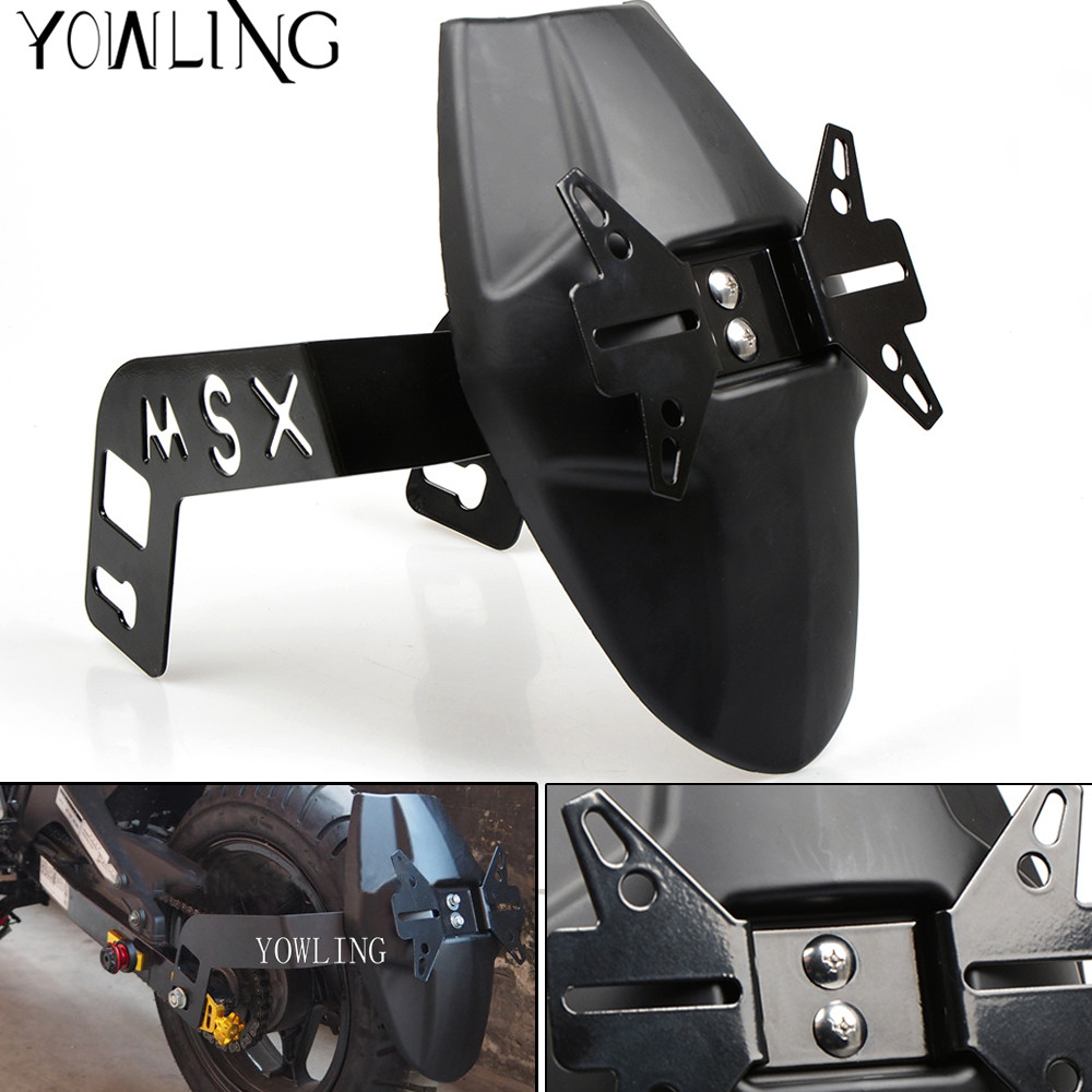 Motorcycle Accessories Fender Rear Cover bracket motorbike mudguard License Plate Holder For Honda MSX125 MSX 125 2013 2014 2015 starpad for xinyuan x3 rear fender after the end of the license holder alice