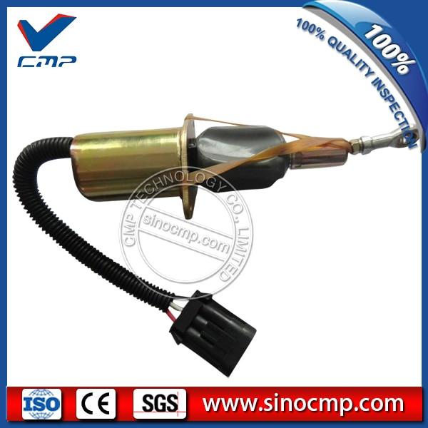 CMP 24v excavator fuel stop shutdown shutoff flameout solenoid 6735-81-9140 cmp stop solenoid valve 3935650 for cummins excavator