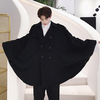 S-6XL!!!   2018  Circarc sweep novelty autumn double breasted woolen oversize ultra wide cloak outerwear