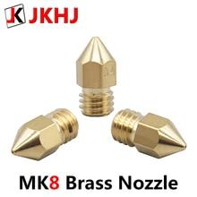 MK8 Extruder Nozzle High Precision Brass Nozzle 0.2/0.3/0.4/0.5mm for 1.75mm filament M6 thread hotend 4pcs 3D Printer Parts