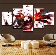 Rabbit Tokyo Ghoul Anime 5 Pieces Home Print Poster Canvas Painting Wall Art Living Room HD Printed