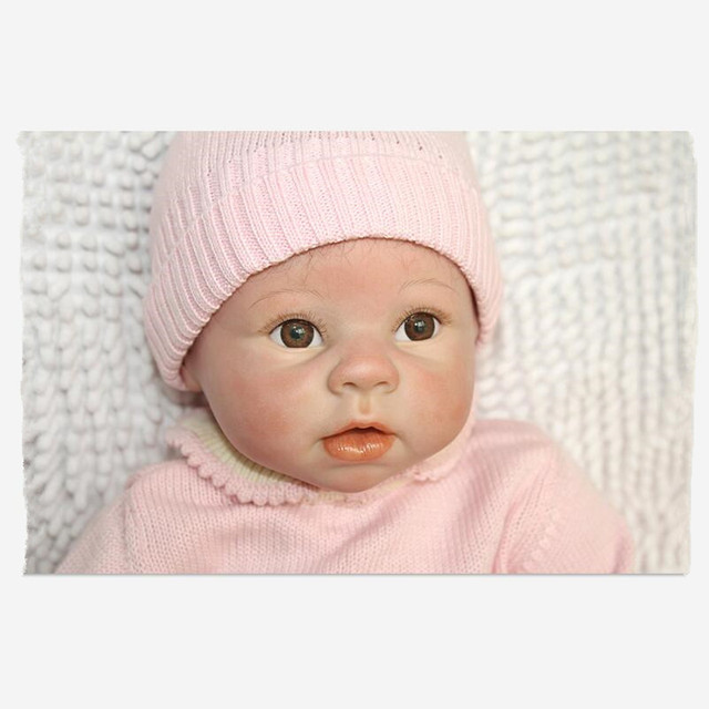 1951d7c672aff 55CM Silicone Reborn Babies Realistic Doll kids Playmate Gift For Girls  Baby Alive Soft Toys For Bouquets Juguetes Kids Gift-in Dolls from Toys &  ...