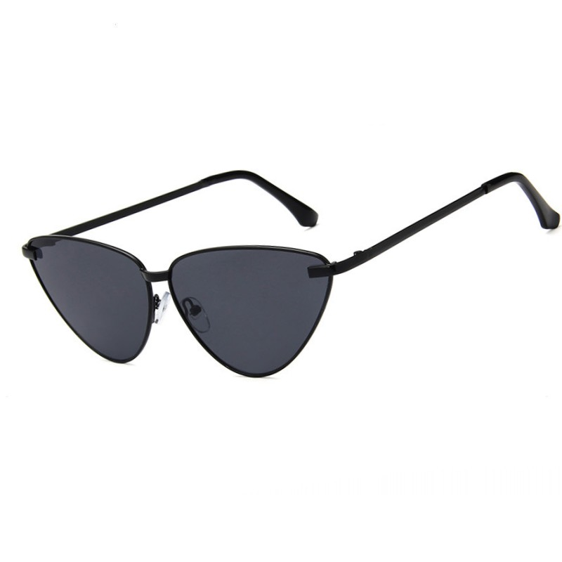 5f2a765961e40 2018 New Sexy Luxury Cute Cat Eye Mirror Sunglasses Women Style Fashion  Metal Frame Pink Black Purple Triangle Ladies Goggle-in Sunglasses from  Apparel ...
