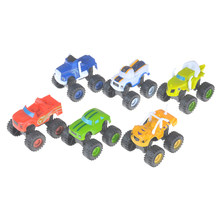 6PC/set Russia Blaze Miracle Cars Blaze Rud Toys Kids Car Model Mini Car Collection Toys For Boys Childern Gifts(China)
