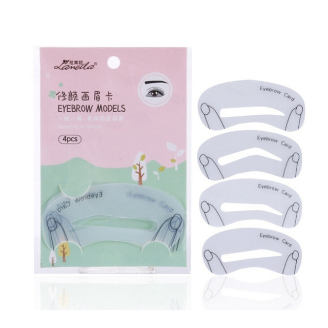 Word Eyebrow Stencils Eyebrows Mold Makeup Tools Threading Artifact Thrush Aid Card Thrush Card Threading Hot Sale 1