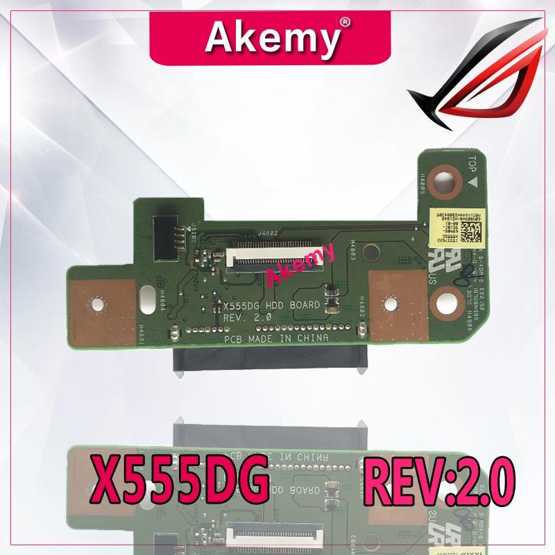 Akemy original For Asus X555DG Series HDD Board Hard disk drive board X555DG REV:2.0 60NB09A0-HD1040 100% Tested Fast ShipAkemy original For Asus X555DG Series HDD Board Hard disk drive board X555DG REV:2.0 60NB09A0-HD1040 100% Tested Fast Ship