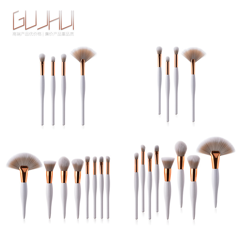Professional 4/8 Pcs Makeup Brush Foundation Eye Shadow Eyeliner Lip Cosmetic Soft Synthetic Hair Beauty Tool Set