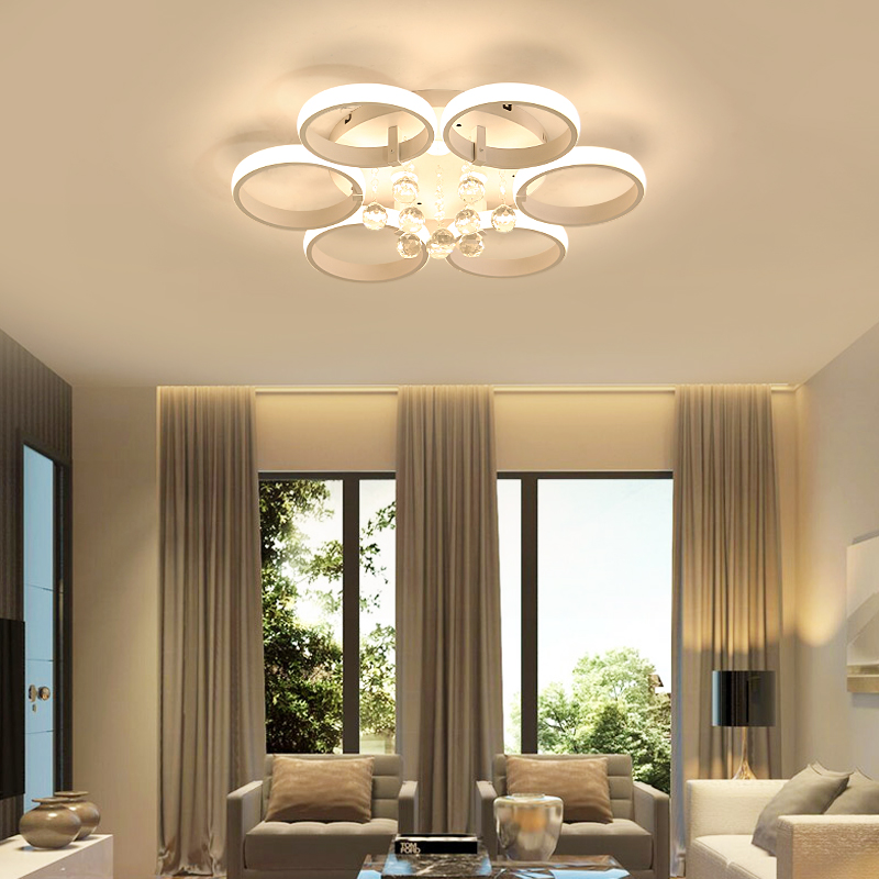 led ceiling lights Living room lamp simple modern home bedroom lamp personality Scandinavian restaurant room crystal lamp chinese style classical wooden sheepskin pendant light living room lights bedroom lamp restaurant lamp restaurant lights